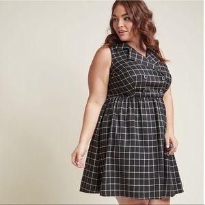 Double Breasted Sleeveless Shirt Dress